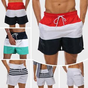 Mens-Swim-Shorts-Swimsuit-Trunks-Swimwear-Bathing-Suit-with-Pockets-Beachwear