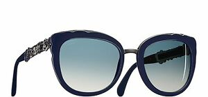 bee767b323a CHANEL Butterfly Bijou 5356-A 1462 K4 Sunglasses Blue Grey Polarized ...