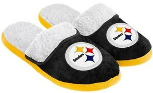 bd81d753 Details about Pittsburgh Steelers NFL Licensed Women's Sherpa Slide  Slippers Adult Sizes