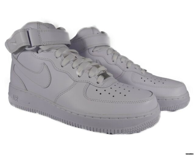watch 5ca7c 96180 Nike Air Force 1 Af1 Mid 07 Basketball Shoes Size 9mens SNEAKERS Triple  White