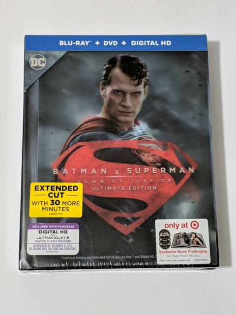 6049acacc Batman V Superman Blu-Ray DVD HD Digital Target 3D Lenticular Digibook