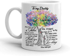 Father Days Dad Gifts From Daughter To My Daddy Coffee Mug Funny Cup Gift For...