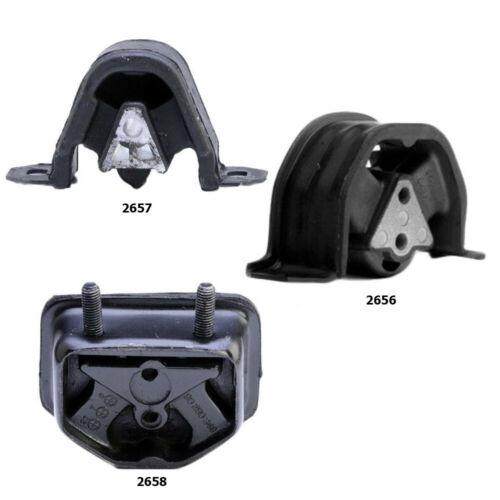 For Manual Trans 3pcs Mount Set Daewoo Lanos 1999-02 1.6L Engine /& Trans