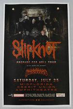 Slipknot Prepare For Hell Tour Original Concert Poster 11x17 2015 Print