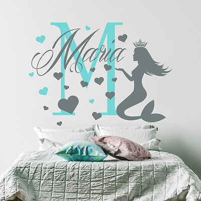 Girl Name Wall Decal Monogram Decal Bear Sticker Nursery Room Decor Art MM31