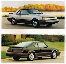 1986 Ford ESCORT EXP Brochure / Pamphlet with Color Chart: Sport Coupe, Luxury,