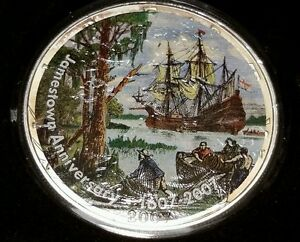 2007-Jamestown-400th-Anniversary-Silver-Dollar-rare