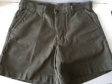 Patagonia Mens Olive Green Stand Up Organic Cotton Flat Front Casual Shorts 36