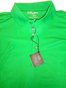 Bobby-Jones-H2O-Performance-Polyester-Blend-Green-Polo-Golf-Shirt-NWT-Large-99