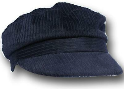 Velluto A Coste Cappello Da Strillone Capitani Navy Cap-medium-mostra Il Titolo Originale Lucentezza Luminosa