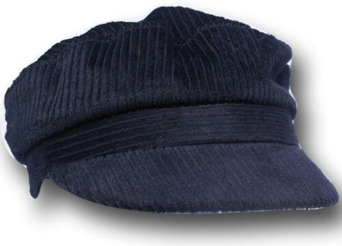 Medium Corduroy newsboy captains navy cap