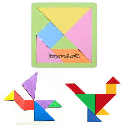 7 Color Pieces EVA Foam Tangram Brain Teaser Puzzle Educational DIY Kid Toy Game