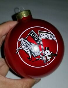 1999-2000 TOPPERSCOT CHRISTMAS RED GLASS COLLECTORS SERIES