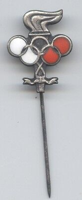 National Olympic Comittee 50/60th Years ! Extrem Rare To Have A Long Historical Standing Orig.pin Poland Noc