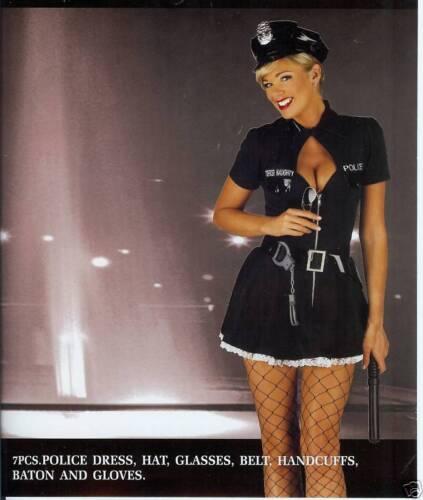 FANCY DRESS  POLICE LADY OFFICER COPPER AV IN 8-18