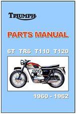 TRIUMPH Parts Manual  6T TR6 T110 T120 1960 1961 1962 Replacement Spares Catalog