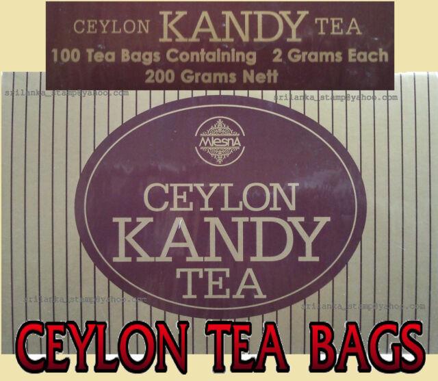 CEYLON TEA / SRI LANKA 100 TEA BAGS - MLESNA KANDY TEA - PURE CEYLON BLACK TEA