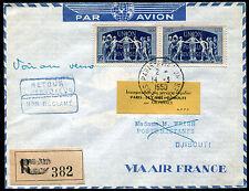 1959 - AIR FRANCE - Inaugurazione linea aerea  Parigi- Il Cairo - Djibuti