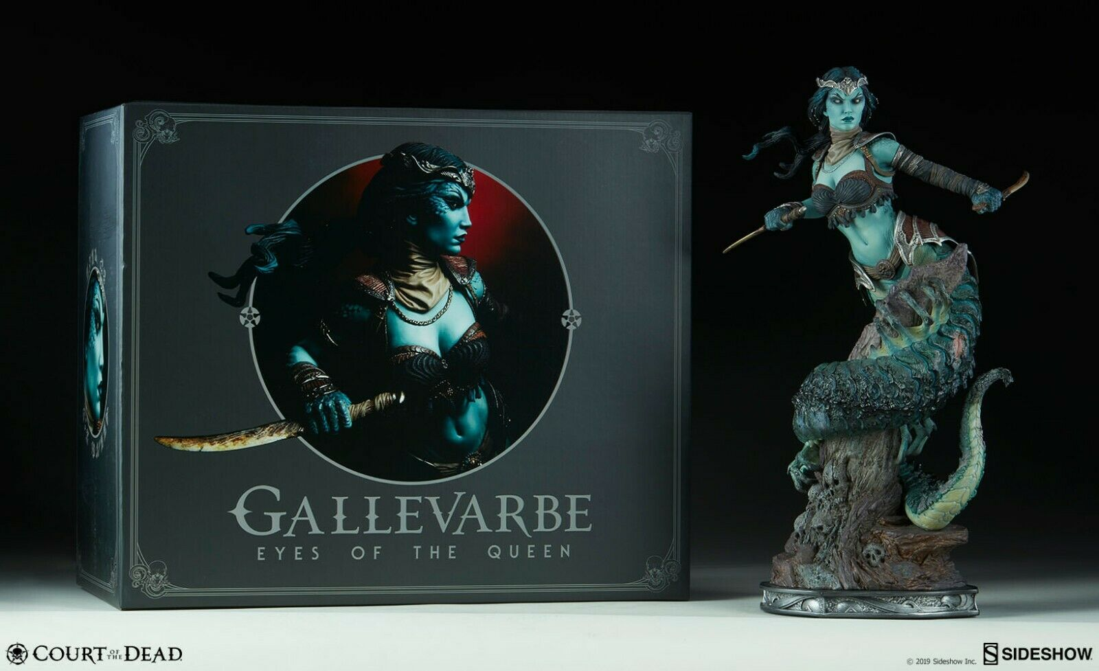 STATUE GALLEVARBE-EYES OF THE QUEEN-COURT OF THE DEAD-PREMIUM FORMAT SIDESHOW