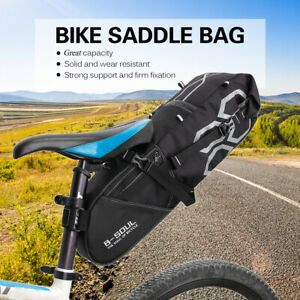 Bike Bag Bicycle Saddle Tail Seat Waterproof Storage Bags Cycling Rear Pack 12L