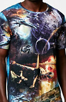 Disney/on The Byas Star Wars Ships Crew Neck T-shirt