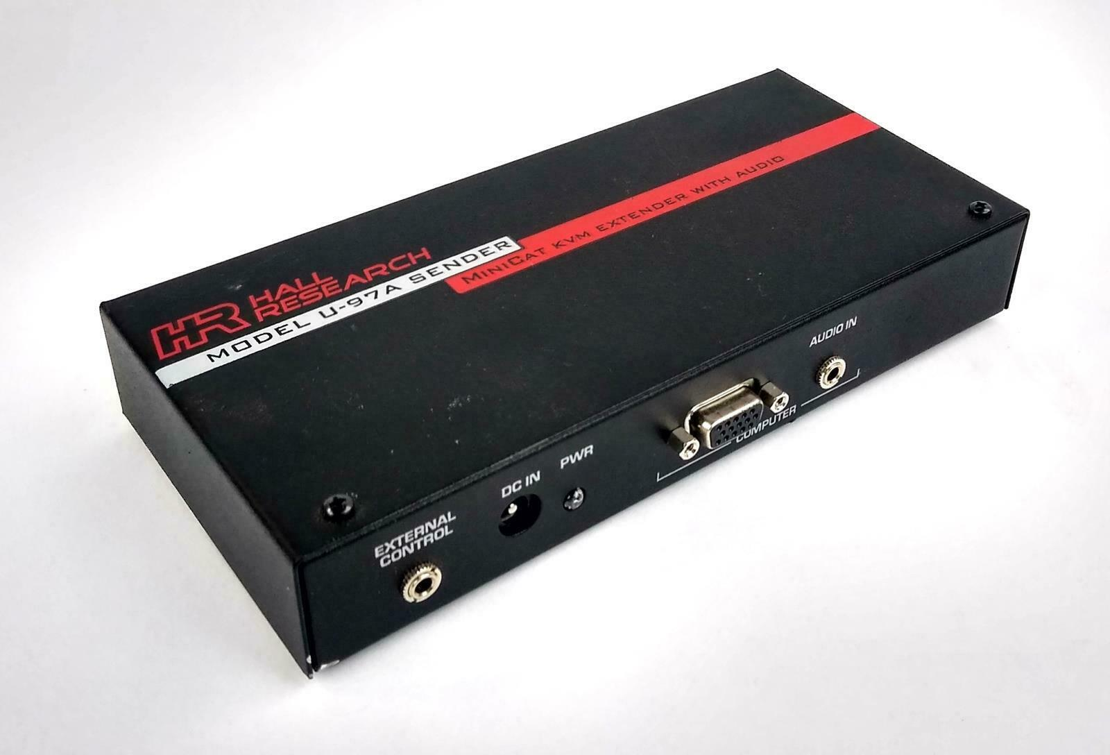 Hall Research U97-A Sender Minicat KVM Extender With Audio - TESTED & WORKING