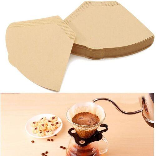 100Pcs//lot sostituzione caffè filtro in carta CONI conteggio marrone naturale non sbiancata