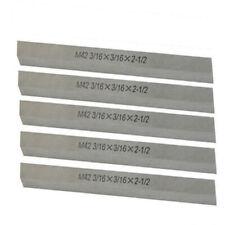5 Pc M42 316 X 316 X 2 12 Cobalt Steel Square Tool Bit Lathe Fly Cutter