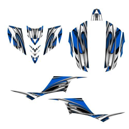 KFX 700 graphics ATV sticker kit for Kawasaki KFX700 NO1200 blue