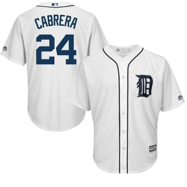 check out c4c50 3aff4 Detroit Tigers MLB Mens Cool Base Miguel Cabrera White Jersey Big & Tall  Sizes