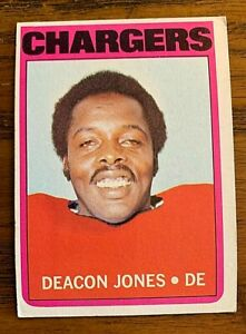 1972 Topps Football #209 Deacon Jones - Chargers