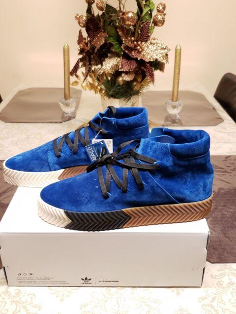 online store 5bd77 9b945 Adidas x Alexander Wang AW Skate Mid Bluebird Blue Gum Suede Size 10 New