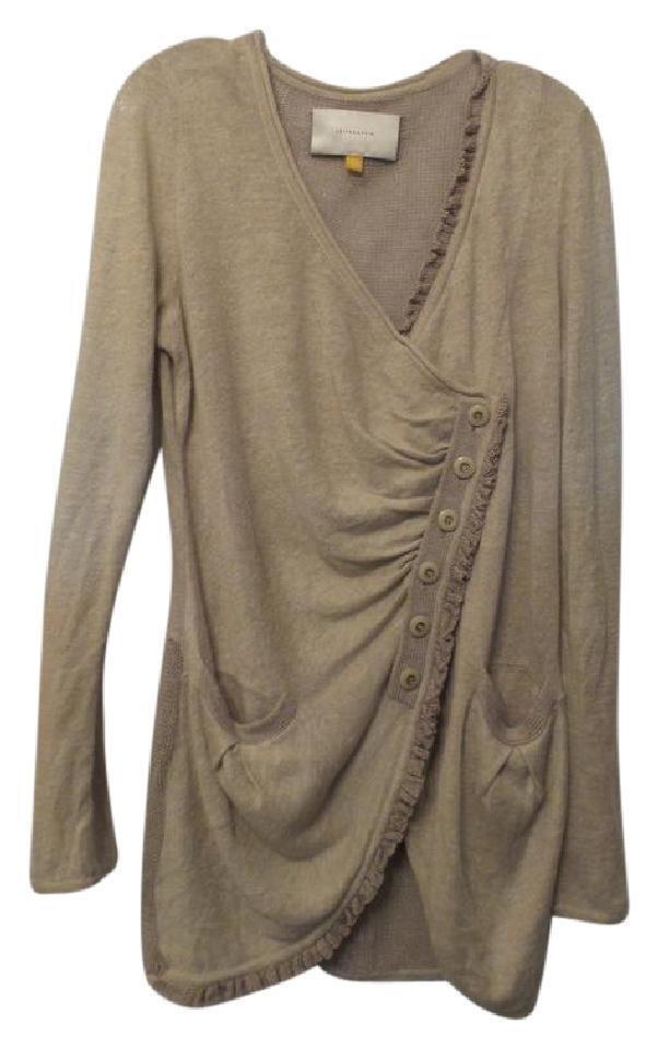 LEIFSDOTTIR Anthropologie Linen All Seasons Asymmetrical Long Cardigan Size L