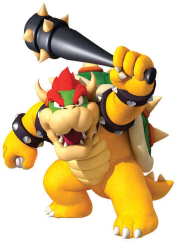 STICKERS AUTOCOLLANT TRANSPARENT POSTER A4  VIDEO GAME JEUX MARIO BROS BOWSER.