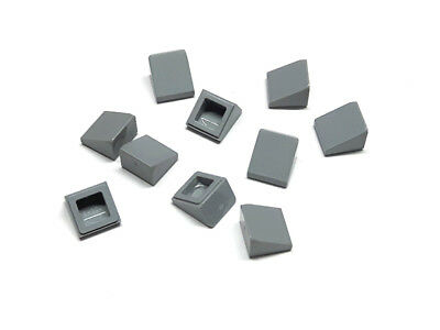 Lego Dachstein 1x1x2//3 10 Stück in neu hell grau 54200