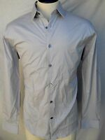 Express Button Down Shirt Mens - Gray - 1mx Style - Fitted - Xl - $49