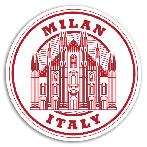 2 x 10 cm Milano Italie Vinyle Autocollants-Europe Voyage Cool Luggage Sticker #17377