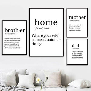 Details About Wall Painting For Bedroom Minimalist Wall Art Pictures Mother Dad Life Quotes