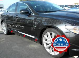 2008-2015-Jaguar-XF-6Pc-Body-Side-Molding-Trim-Overlay-Chrome-Stainless-Steel