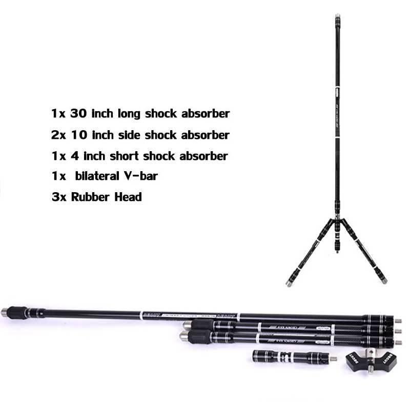 DECUT Archery Bow Stabilizer Carbon System Set Balance Bar Rod Damper CROWN