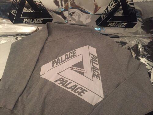 Crewneck Classique Og Palace Ferg Skateboards Ss16 Flocka Tri Gris M Moyen Blanc pyqwI0qSx