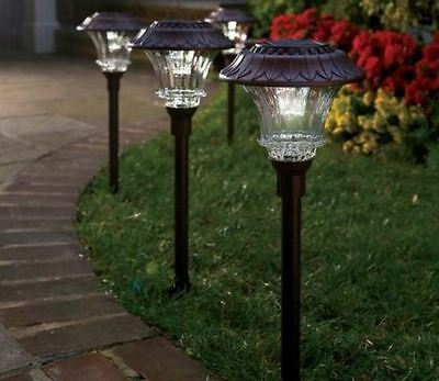 Solar Led Path Lights Outdoor Walkway Pathway Backyard Patio Exterior Lighting Ebay
