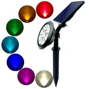LED-Projecteurs-de-Jardin-Brochet-Lumiere-Lampe-sur-Pied-Luminaire-Solaire-Spot