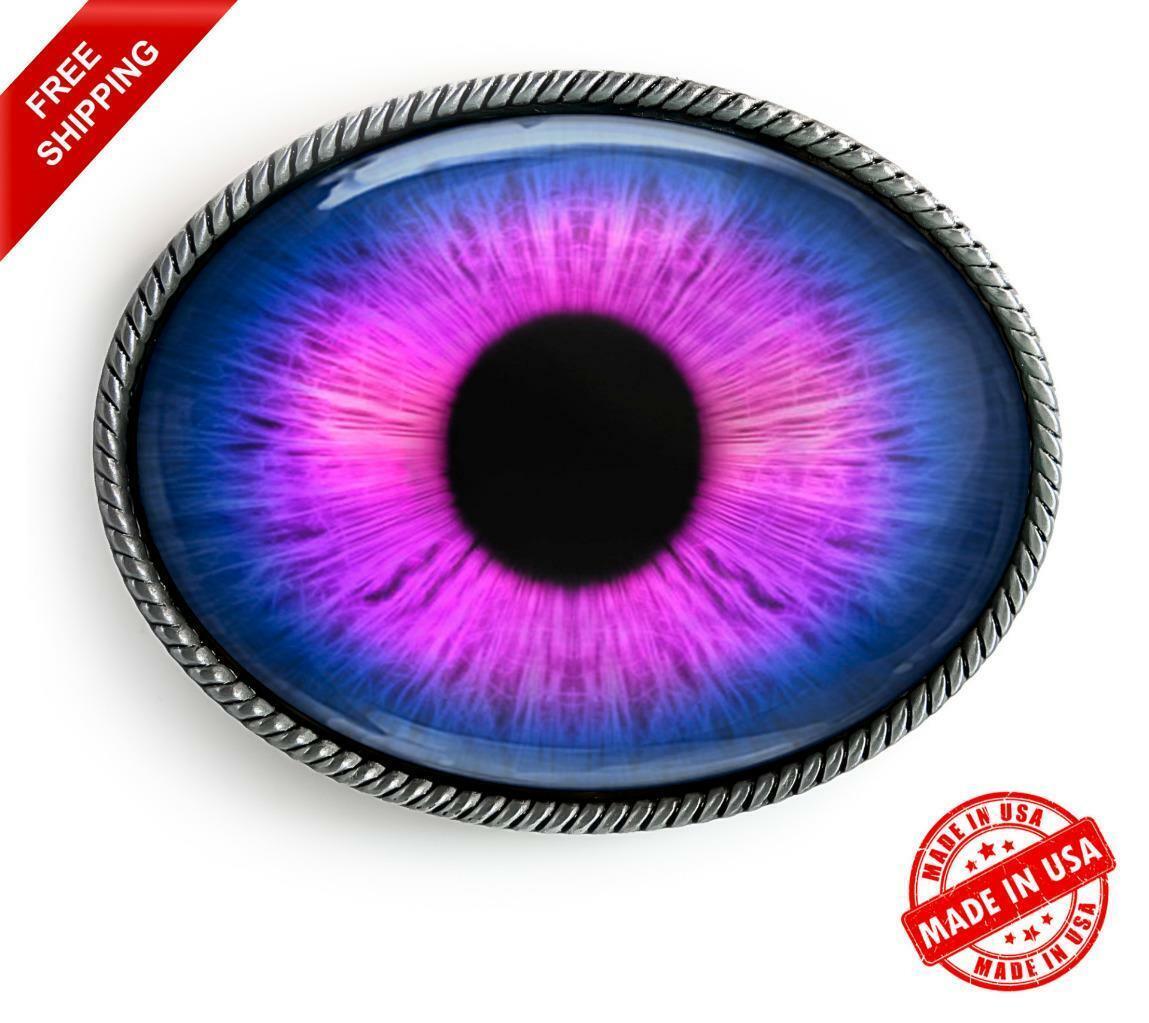 Purple Monster Eyeball Belt Buckle - Halloween Taxidermy Cosplay Buckle - 7-E