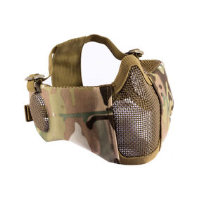 OneTigris-Tactical-Airsoft-Foldable-Half-Face-Metal-Mesh-Mask-w-Ear-Protection