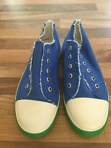 435ad252f4dfd Details about BRAND NEW MINI BODEN CLASSIC BLUE LACELESS CANVAS PULL-ON  PUMPS SIZE 37 UK 4
