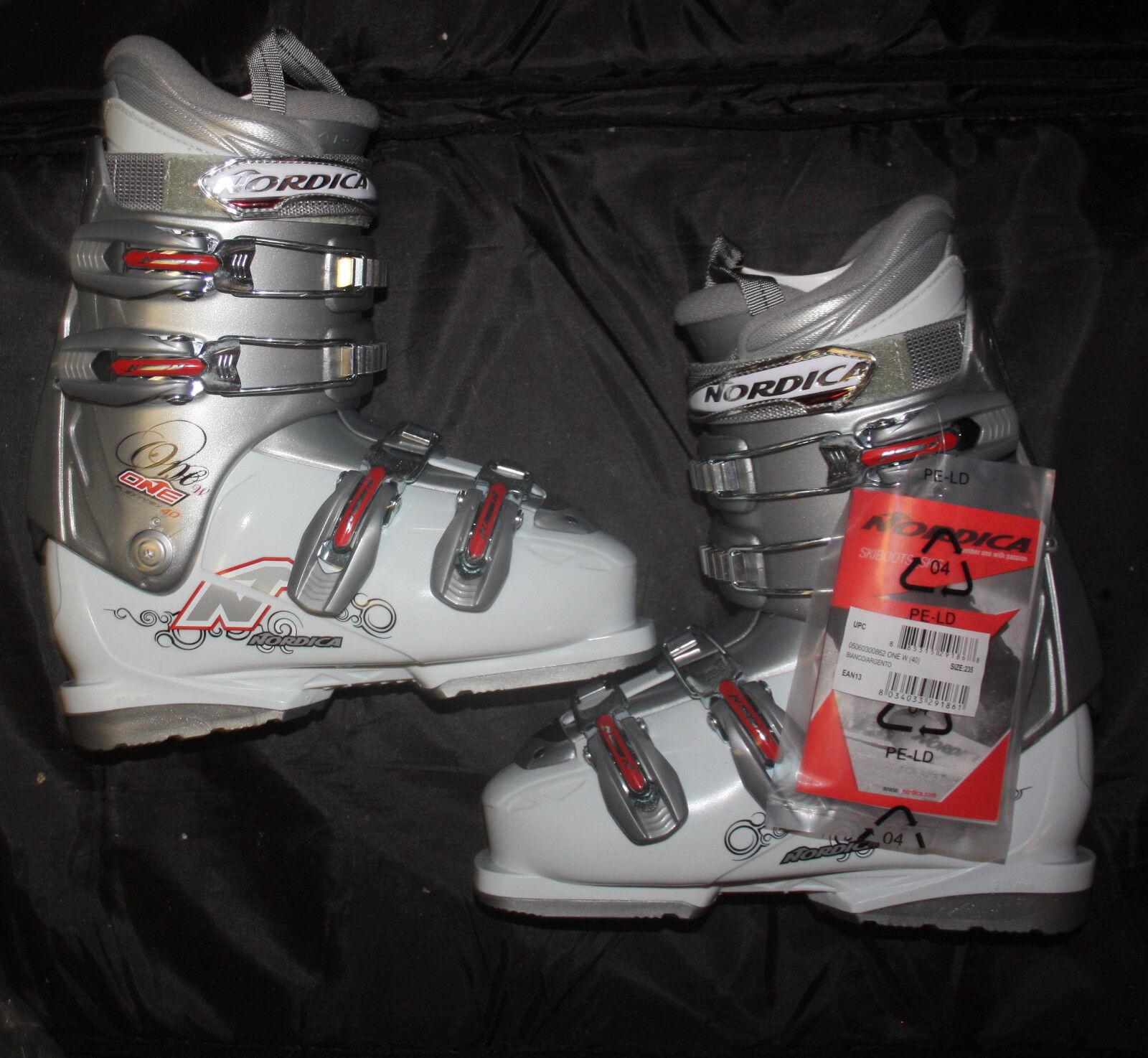 Nordica one W women's ski boots downhill Lot 3 pairs deal   mondo size 23.5