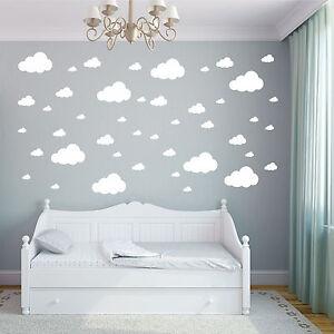 Image Is Loading Cloud Wall Stickers Children 039 S Bedroom Nursery