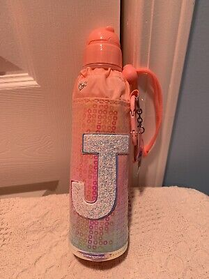 NWT JUSTICE Mermaid Sleeve Water Bottle With Initial Letter ~G~