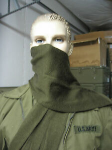 NEW-US-ARMY-100-WOOL-SCARF-COLD-WEATHER-OD-GREEN-US-GOVT-ISSUE